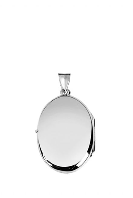 Plain Sterling Silver Oval Locket without Chain